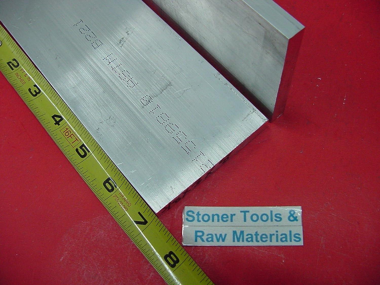 "2 Pieces 1/4"" X 4"" ALUMINUM 6061 FLAT BAR 7"" long T6511 .250"" Plate Mill Stock"