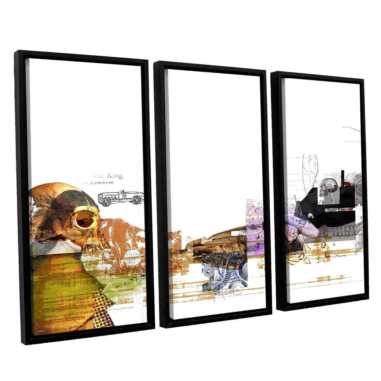 ArtWall 3 Piece Greg Simansons Abstract I Artmetalz Aluminum Print Set 36 x 54