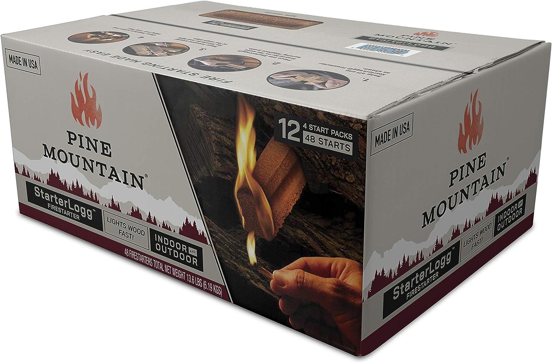 Pine Mountain StarterLogg Select-A-Size Firestarting Blocks 24 Starts Firestarter Wood Fire Log for Campfire Fire Pit Indoor /& Outdoor Use Wood Stove Fireplace 3, Red