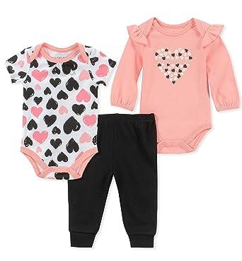 b676912f7 Amazon.com  Calvin Klein Baby Girls  3 Pieces Bodysuit Pant Set ...