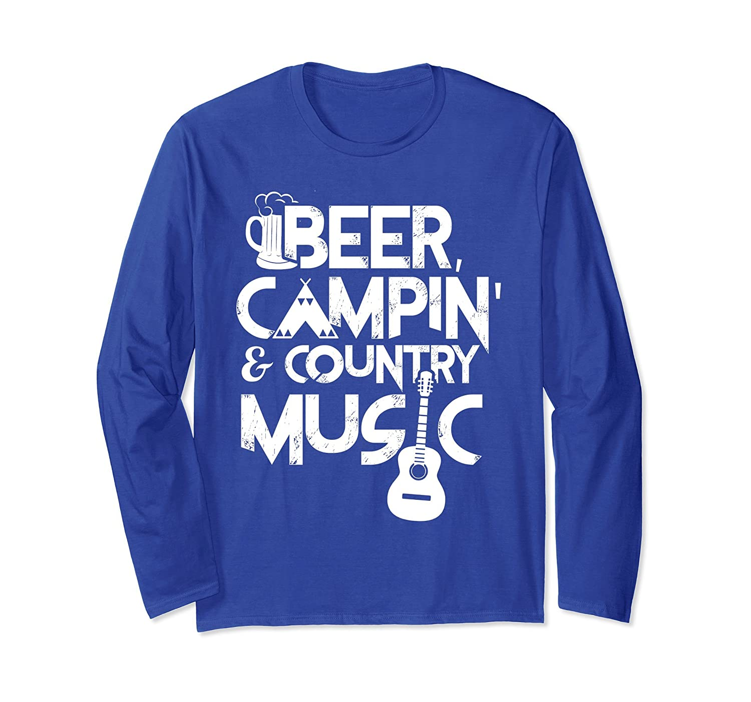 Beer Campin' & Country Music Long Sleeve-mt