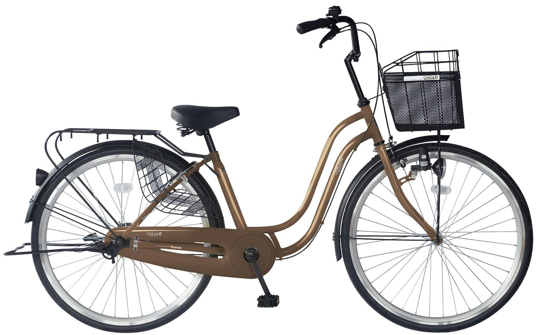 CHACLE(チャクル) 軽くて パンクしない自転車 軽快S [シングルスピード/8倍明るいLEDライト] FP-CCB260S B01IRJP5RSブラウン 24インチ