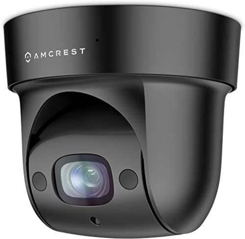 Amcrest ProHD Indoor WiFi PTZ 4X Optical Zoom 1080P Wireless IP Camera, Pan Tilt 4x Motorized Zoom, Wide 116 degrees Viewing Angle, Sentinel Wi-Fi, REP-IP2M-846 Black Renewed