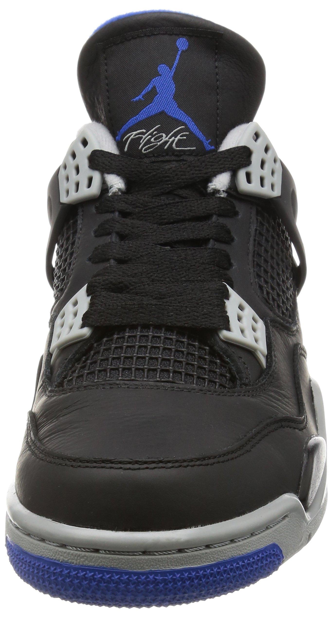 promo code adc56 d0bcb Nike AIR JORDAN 4 RETRO Mens Sneakers, Black Game Royal Matte Silver,