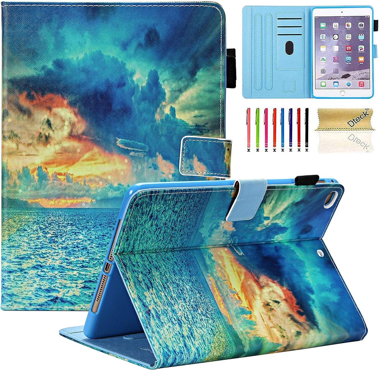 iPad Mini Case, Mini 2/3/4/5 Case, Dteck Slim Premium PU Leather Folio Stand Smart Magnetic Case with Auto Wake/Sleep Full Body Protective Cover for Apple iPad Mini 5/Mini 4/Mini 3/Mini 2, Sunrise