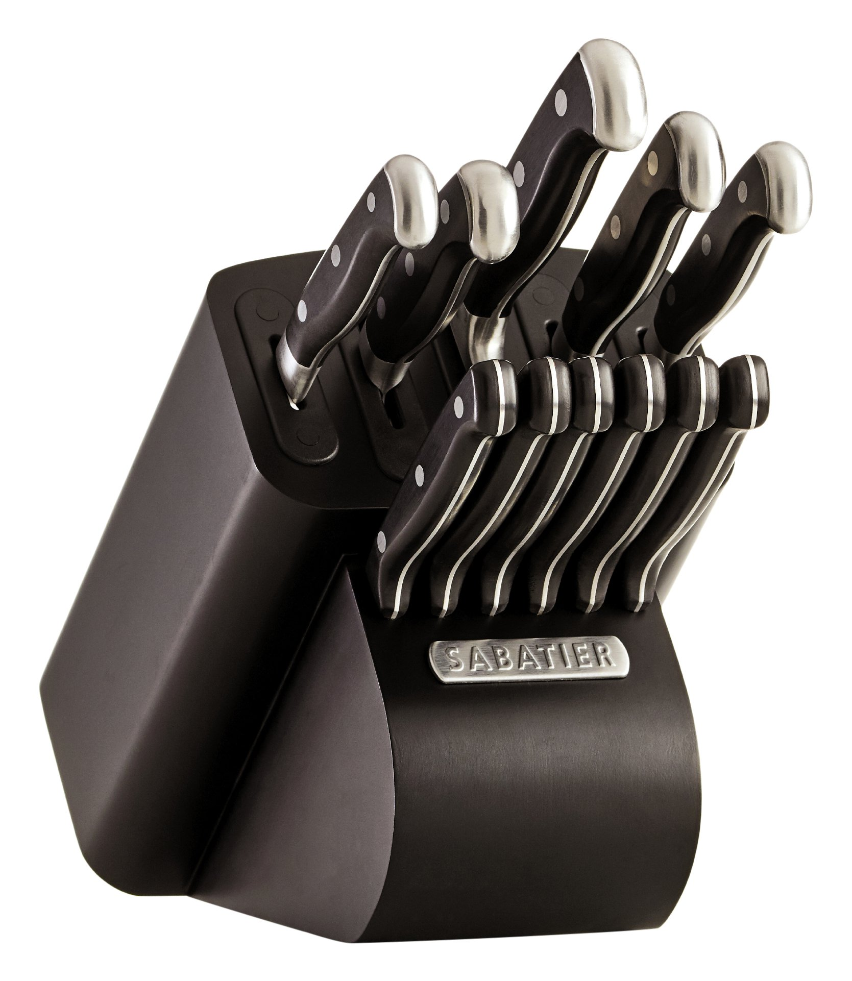 Sabatier Self-Sharpening Edgekeeper Pro 12-Piece Forged Triple Rivet Knife Block Set