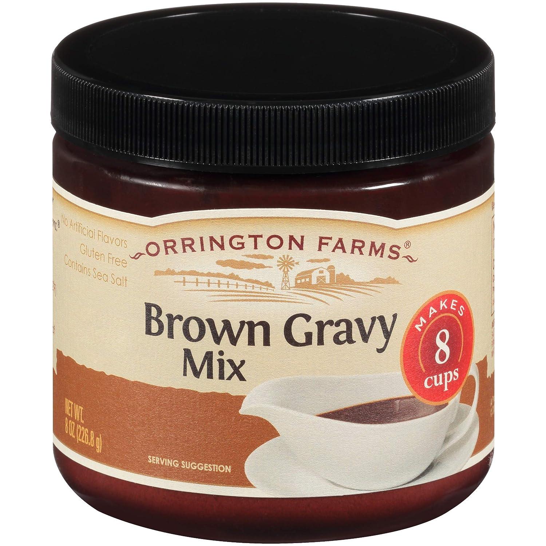 Orrington Farms Brown Gravy Mix Granular, 8 Oz (Pack of 6)