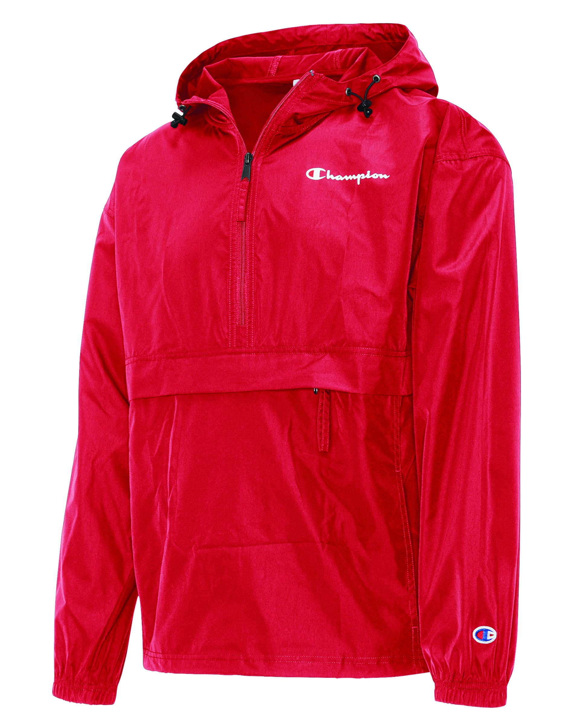Champion Men's Packable Jacket, Scarlet, Medium by Champion