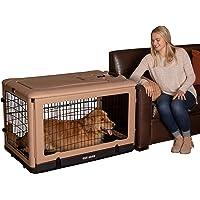 "Pet Gear ""The Other Door"" 4 Door Steel Crate with Comfort Pad + Travel Bag for Cats/Dogs, Sets up in Seconds No Tools Required, Built-in Handle/Wheels"