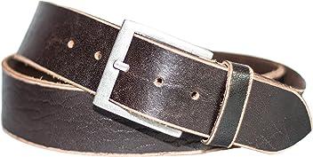 Eg-Fashion Herren Jeansgürtel 5 cm Breite 100% Büffelleder stylische Schnalle im Used Look- Individuell kürzbar