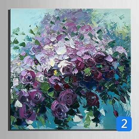 Fiori dipinto a mano - Pittura ad olio senza cornice pittura ...