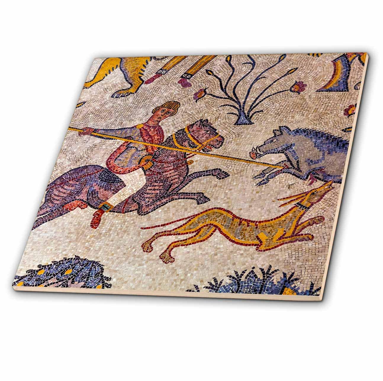 3dRose Danita Delimont - Artwork - 6th Century Mosaic, Memorial Church Of Moses, Mt.Nebo, Jordan - 6 Inch Glass Tile (ct_276925_6)