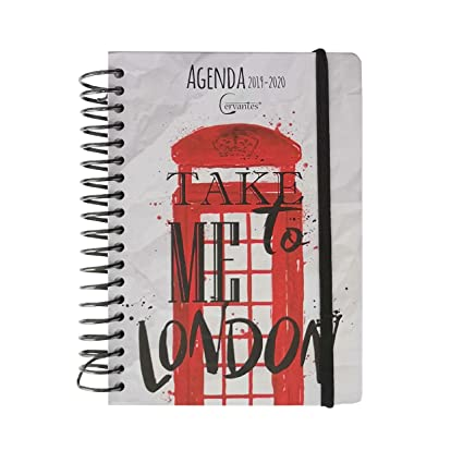 Agenda Escolar 2019-2020 14 X 17.5 Cm Español (LONDON B ...