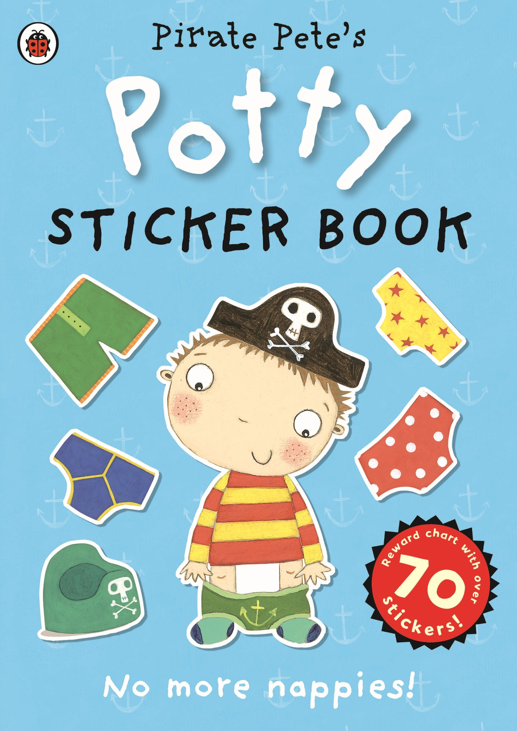 a4 boy potty toilet training chart stickers amazon co uk pirate pete s potty sticker activity book potty sticker books