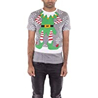 NOROZE Men's Cotton Christmas T-Shirt Novelty Elf Tops