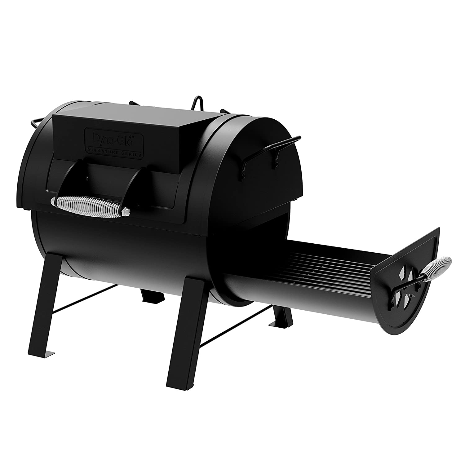 Dyna-Glo DGSS287CB-D Portable Tabletop Charcoal Grill Side Firebox