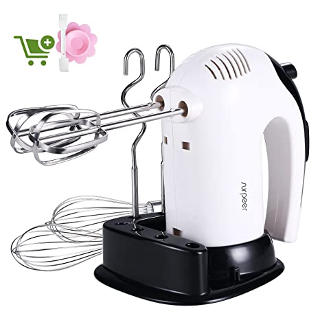 Amazon.com: Hand Mixer Electric 300W, SURPEER Hand Beater with ...