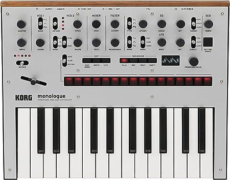 Korg - Sintetizador monofónico analógico Monologue SV, 25 teclas