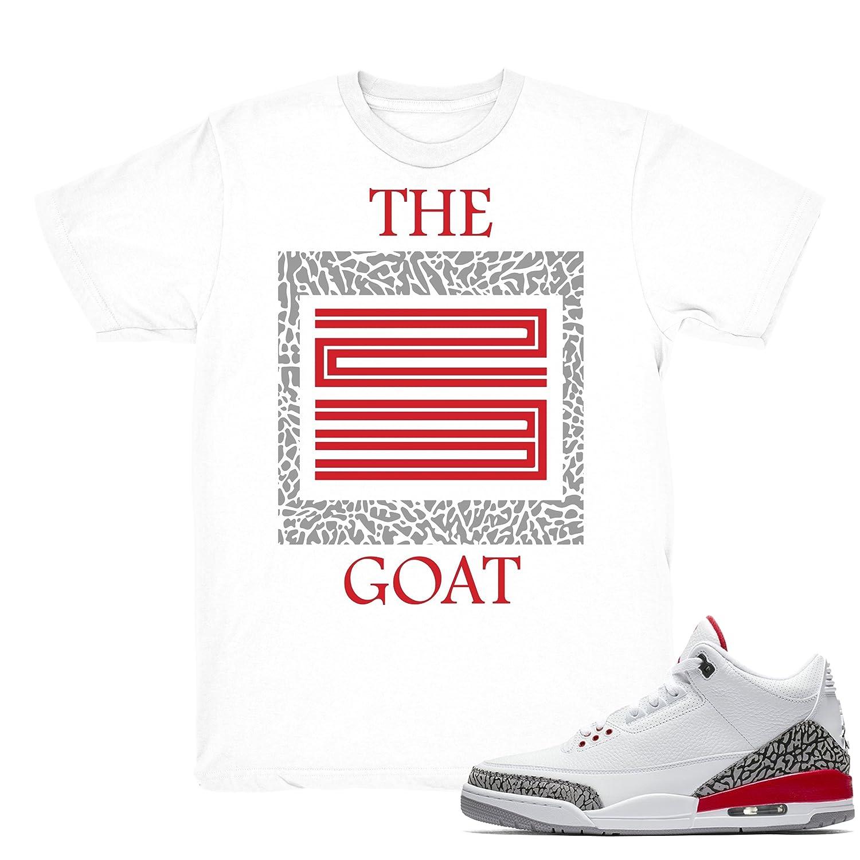 f364c37c27f Katrina 3 The Goat Shirts Match Jordan 3 Katrina Retro Sneakers White T- Shirt   Amazon.com