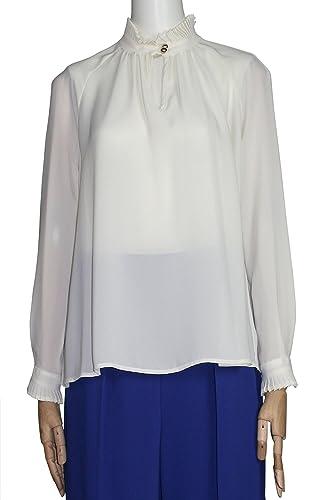 Kaos - Camisas - Asimétrico - Cutaway - Manga larga - para mujer