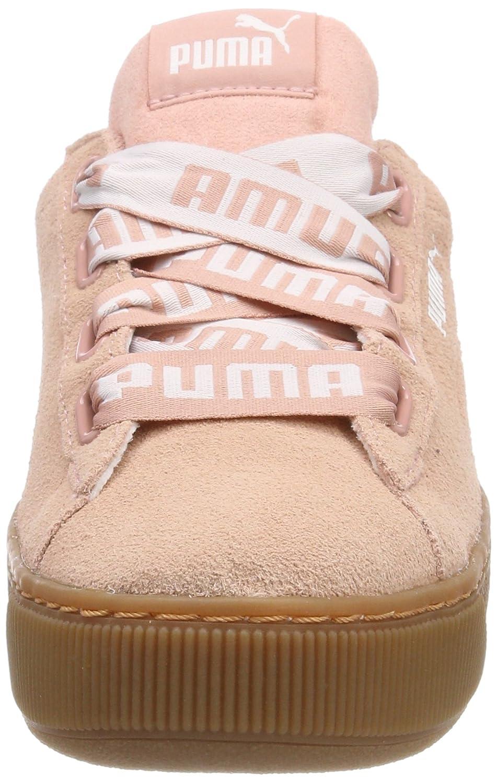 Puma Vikky Platform Ribbon Bold, Sneakers Basses Femme, Beige (Peach Beige-Peach Beige), 36 EU