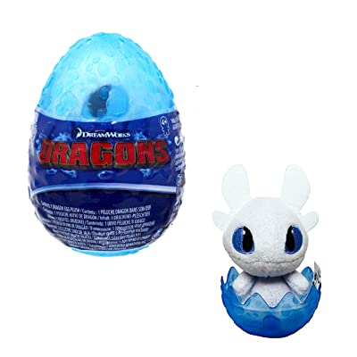 How to Train Your Dragon The Hidden World Light Fury 3-Inch Egg Plush [Blue]: Toys & Games