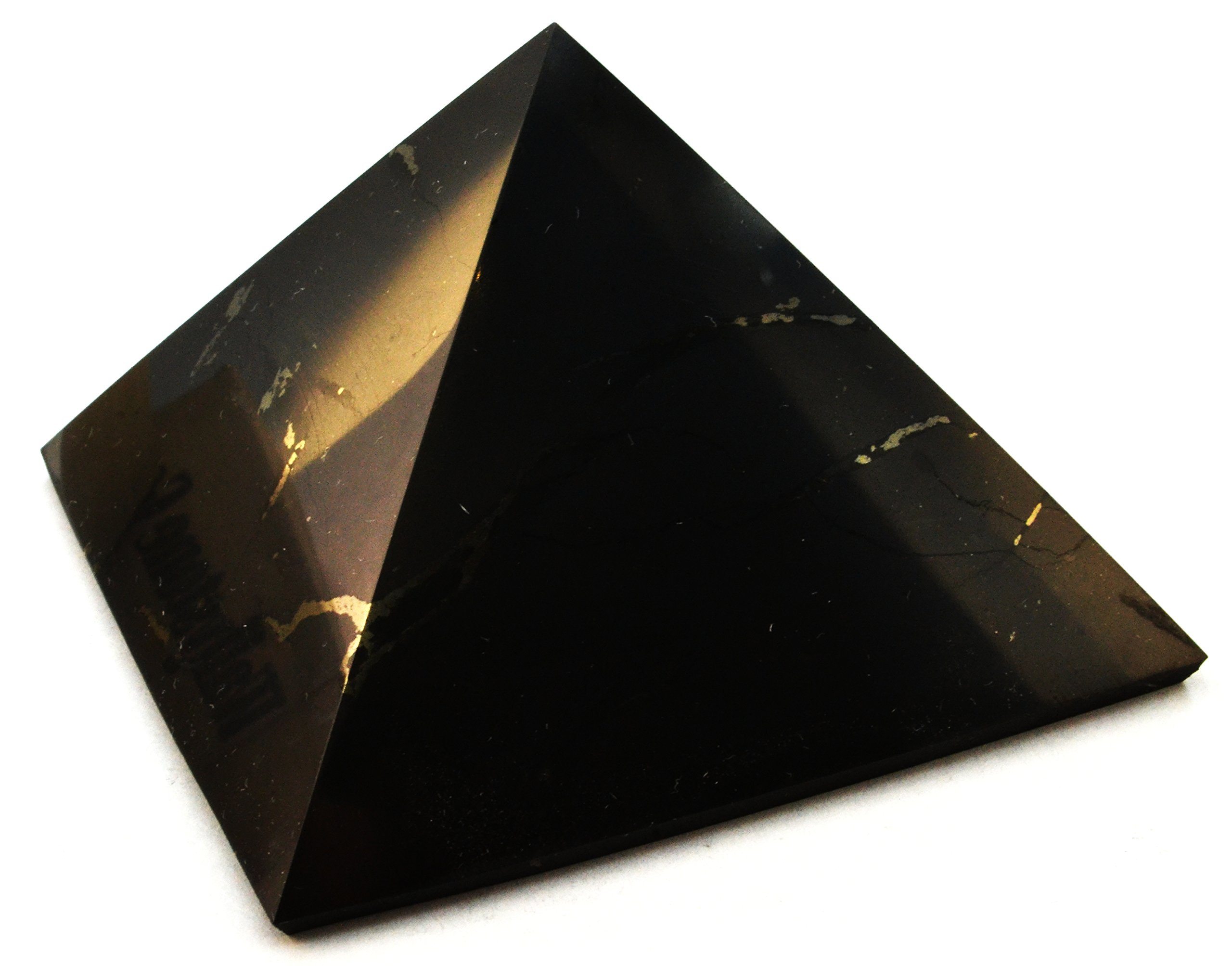 Keled Rocks Shungite Pyramid Polished Natural Shungites Stone 3''