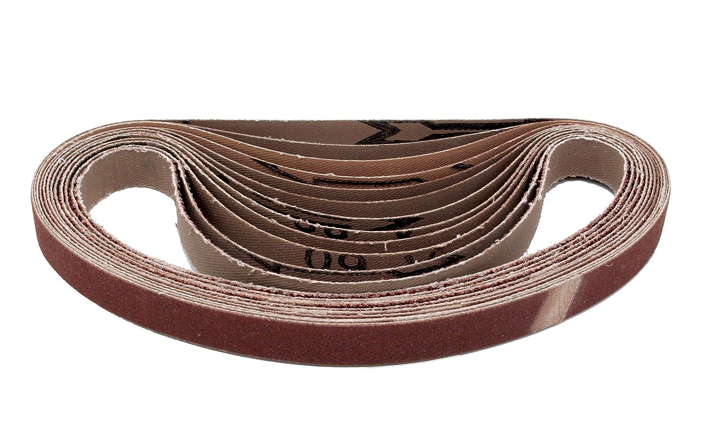 Lot de 96 bandes abrasives pour 13 x 457 Grain 16 x 40//60//80//120//180//240 pour Black /& Decker