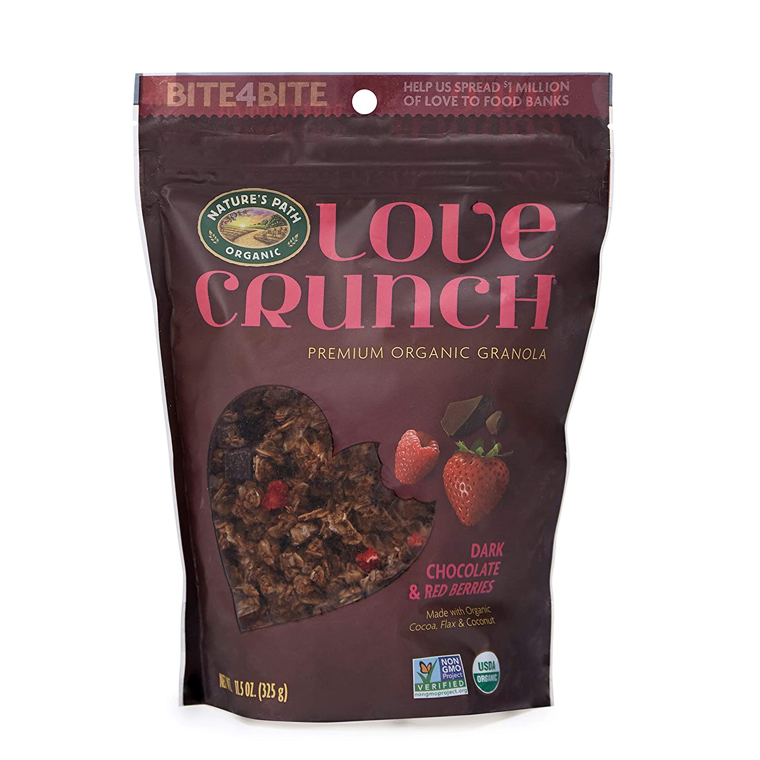 Nature's Path Organic Love Crunch Premium Granola, Dark Chocolate & Red Berries, 11.5 Ounce