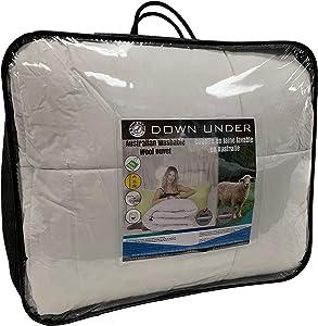 DOWN UNDER Australian Washable Wool Oversized King Duvet Comforter Blanket Quilt with Corner Tie Tabs