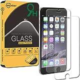 Jasinber [2-Pack] Mica de Vidrio Cristal Templado para iPhone 6 6s