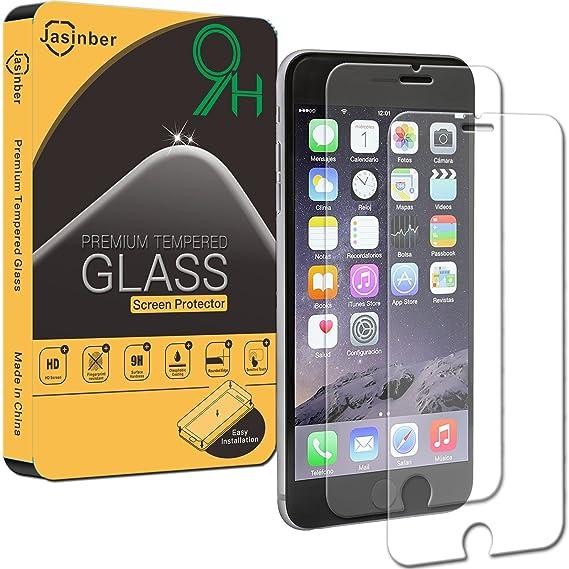 e4293bb2496 Jasinber [2-Pack] Mica de Vidrio Cristal Templado para iPhone 6s Plus/iPhone  6 Plus: Amazon.com.mx: Electrónicos