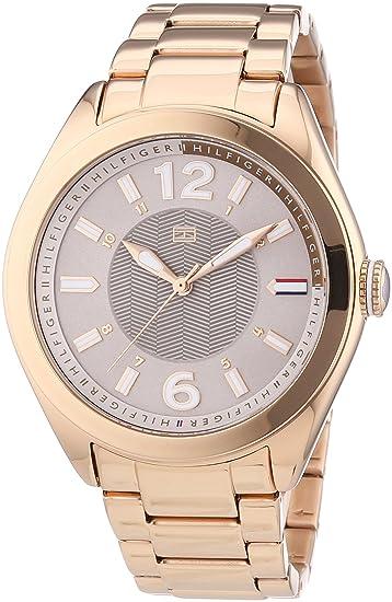 Tommy Hilfiger 1781369 - Reloj de cuarzo para mujer, correa de acero inoxidable chapado color oro rosa: Amazon.es: Relojes