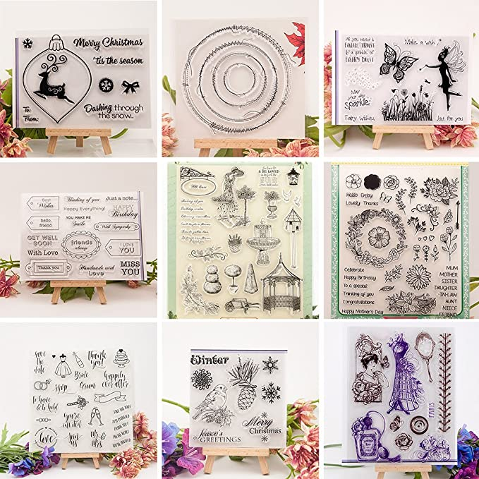 Mimgo SC Series Transparent Silicone Seal Stamp for Handmade DIY Album Scrapbooking Paper Card Craft SC155