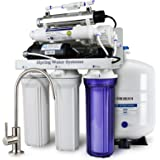 iSpring RCC1UP 6-Stage High Efficiency Low Waste Under-Sink Reverse Osmosis Drinking Water Filtration System with Booster Pump and UV Light Sterilizer - Ideal for Well Water