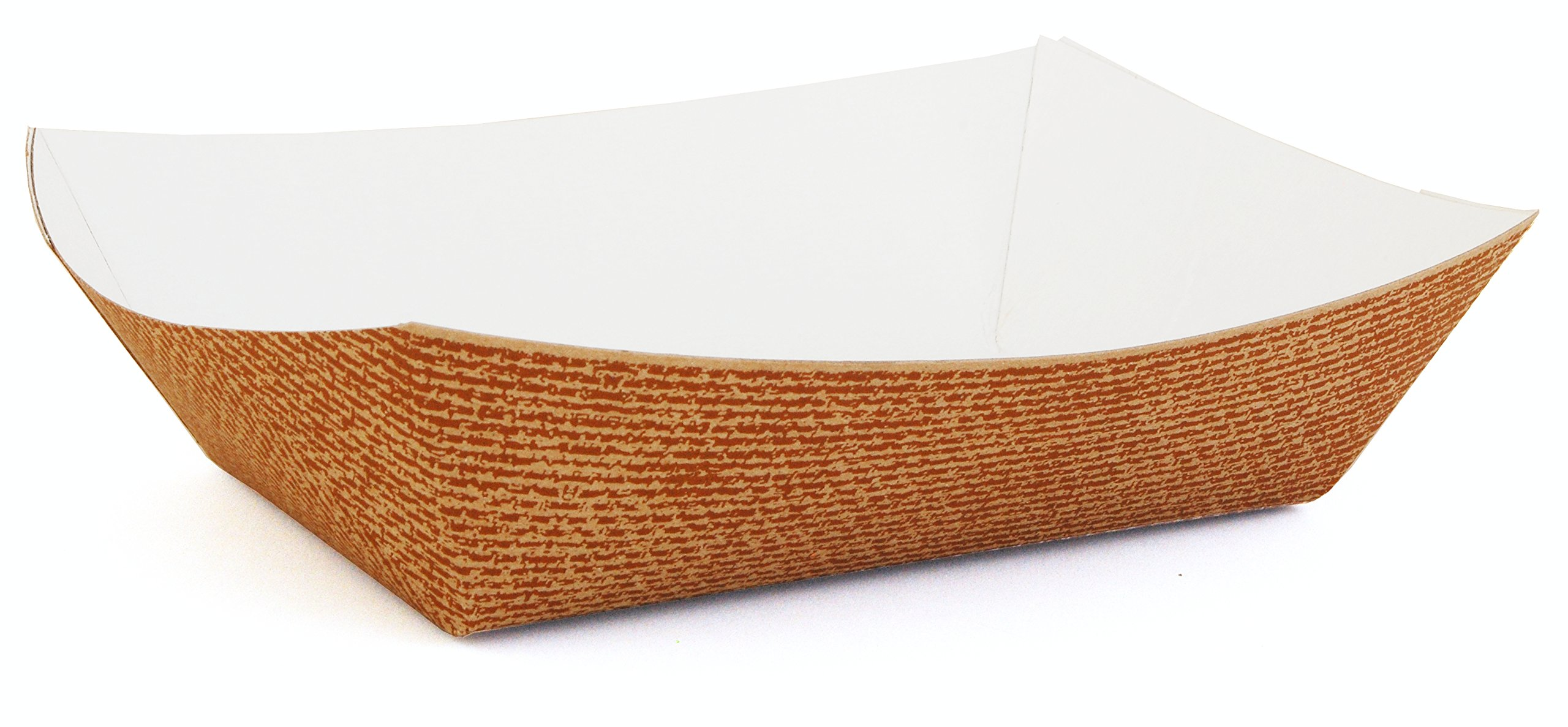 Southern Champion Tray 0566#300 Hearthstone Clay Coated Paperboard Food Tray/Boat/Bowl, 3 lb Capacity (Case of 500)