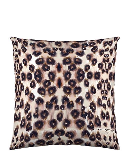 Miriam Ocariz Funda de cojín Leopard marrón/Beige/Amarillo ...