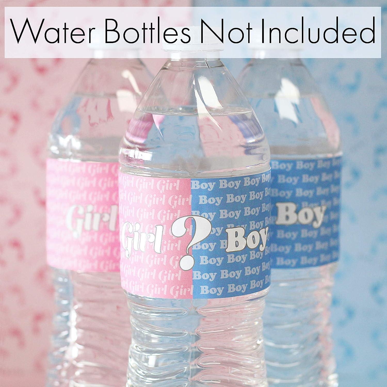 Water Bottle Labels Guns or Glitter Gender Reveal Party Decoration Gender Reveal Ideas Party Favors Weather Resistant Rose Gold