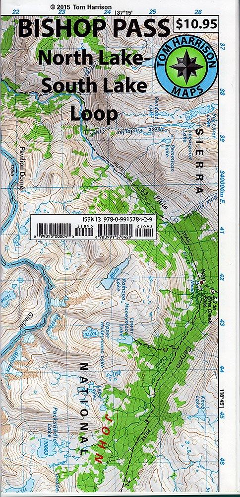 north lake to south lake loop map Buy Bishop Pass North Lake South Lake Loop Tom Harrison Maps north lake to south lake loop map