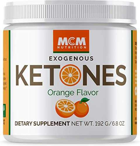 MCM Nutrition Exogenous Ketones Supplement BHB – Boosts Energy Suppresses Appetite – Instant Keto Mix That Puts You into Ketosis Quick Boosts The Keto Diet Orange – 15 Servings