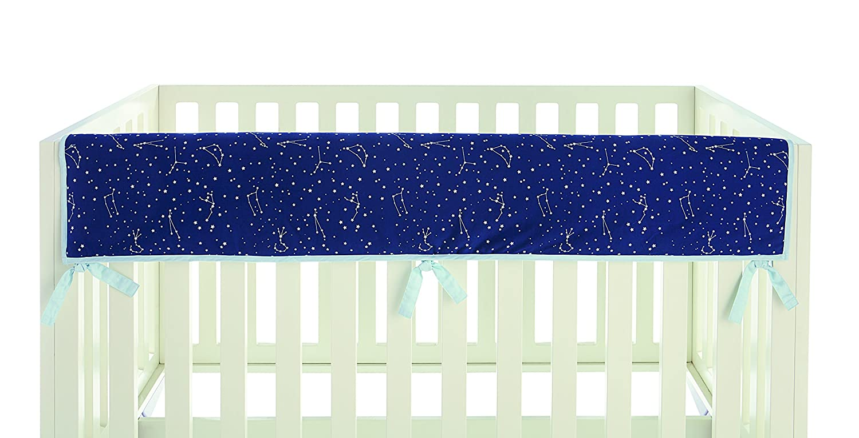 Ivanka Trump Stargazer Collection: Crib Teething Guard Reversible Rail Guard in Blue Star Galaxy Pattern