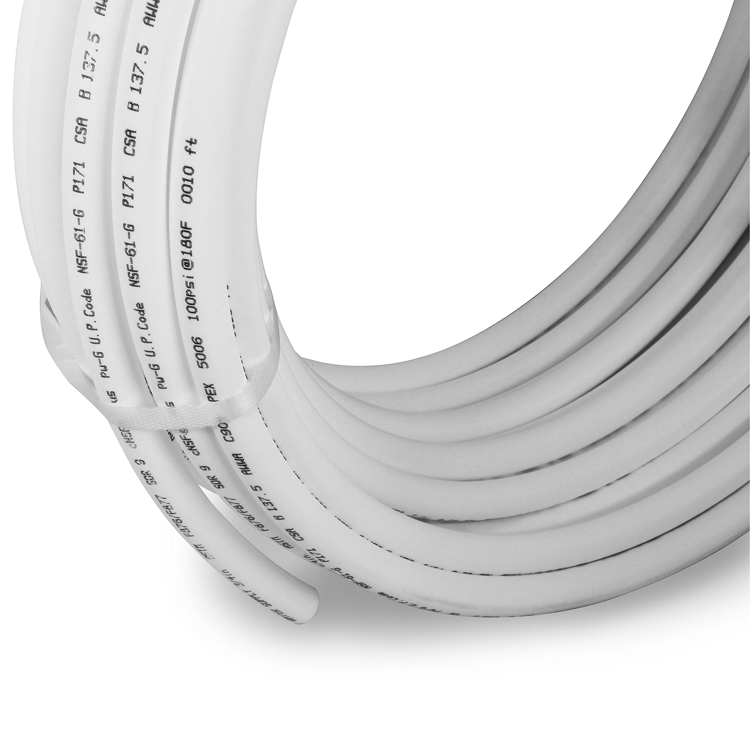 Pexflow PEX Potable Water Tubing - PFW-W1300 1 Inch X 300 Feet Tube Coil for Non-Barrier PEX-B Residential & Commercial Hot & Cold Water Plumbing Application (White) by PEXFLOW (Image #4)