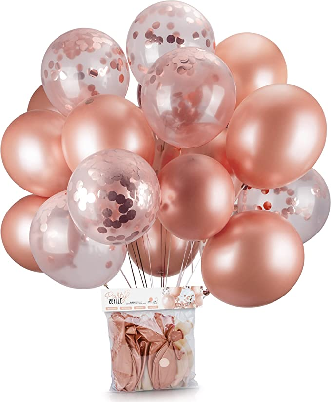 "40 PCS 12/"" Rose Gold Latex Confetti Balloons Wedding Birthday Party Decoration z"