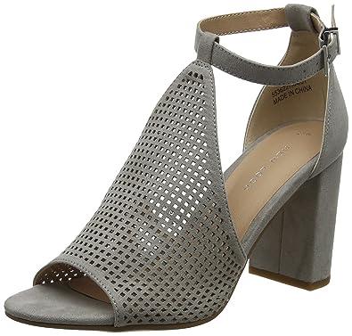 01580a2330006 New Look Damen Violeta Riemchen Pumps, Grau (Mid Grey 4), 38 EU ...