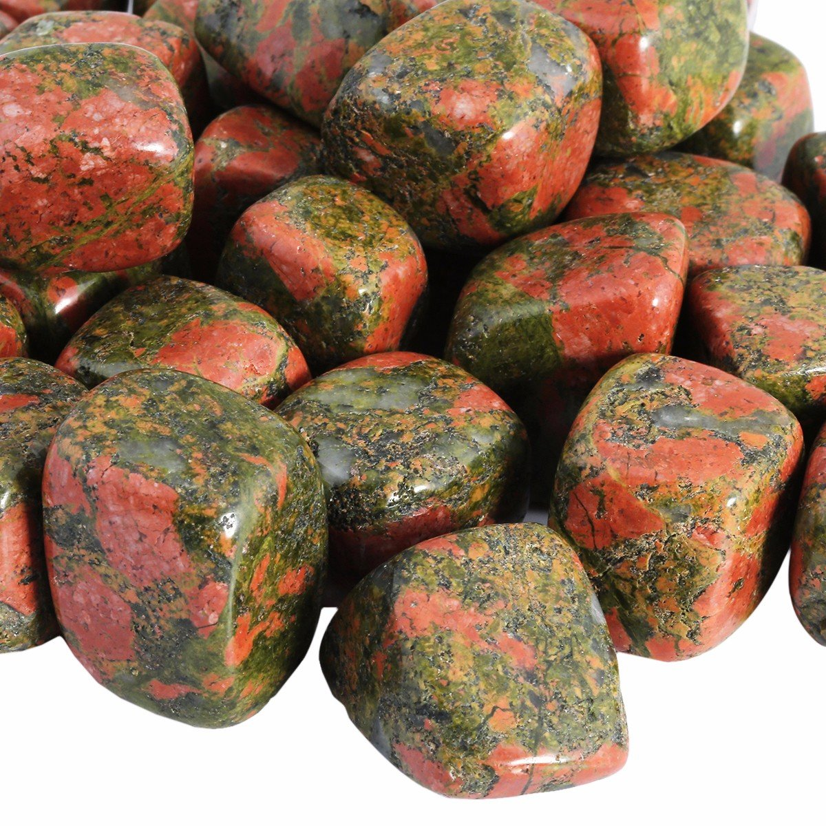 rockcloud 1 lb Tumbled Polished Stones Gemstone Supplies for Wicca,Reiki,Healing Crystal,Assorted Stones RCZ0009219