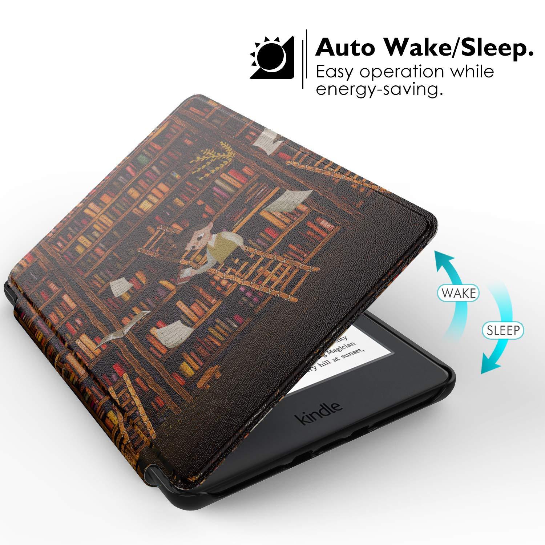 Ultra Delgada Ligera Smart-Shell Soporte Cover Case Compatible con Kindle E-Reader 2019 MoKo Funda Compatible con Kindle 10th Generation 2019 Oro Rosa