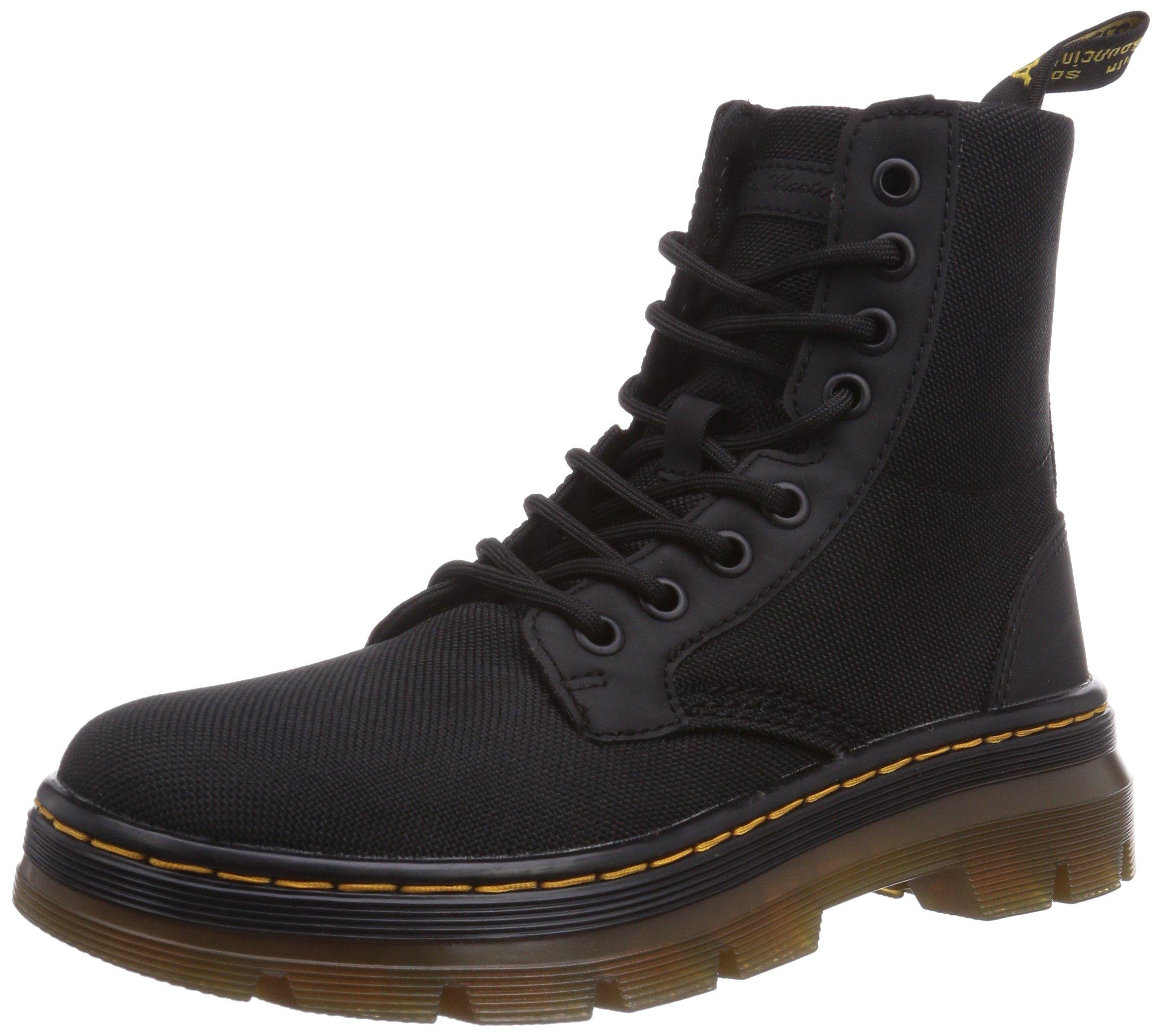 Dr. Martens Men's Combs Nylon Combat Boot, Black, 10 UK/11 M US by Dr. Martens