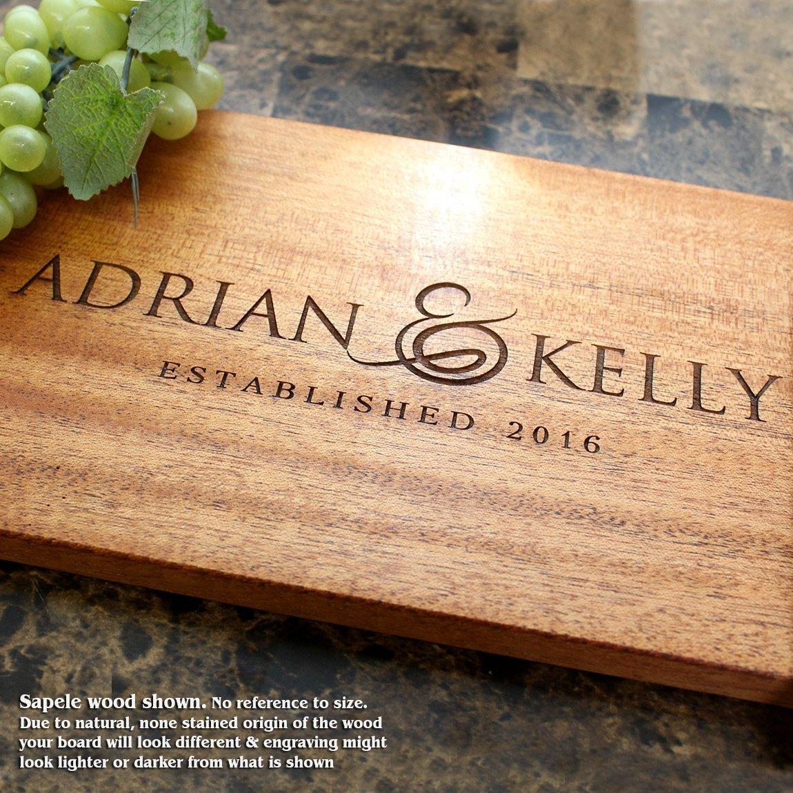 Personalized Cutting Board, Custom Keepsake, Engraved Serving Cheese Plate, Wedding, Anniversary, Engagement, Housewarming, Birthday, Corporate, Closing Gift #216