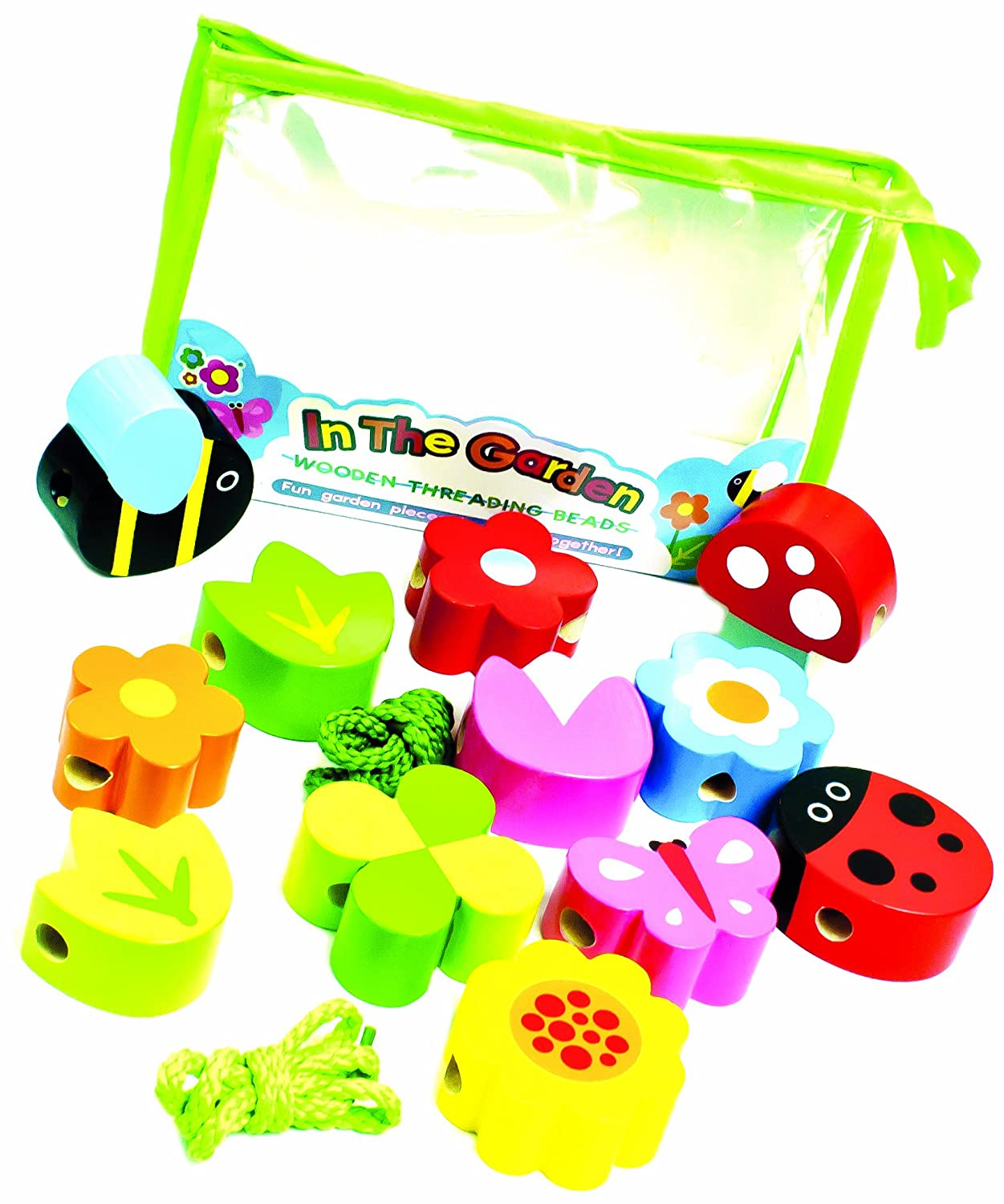 Meadow Kids In The Garden Wooden Threading Beads   B00EB4A2I6