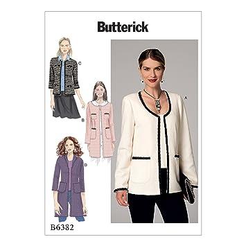 Butterick Patterns Butterick 6382 E5 Schnittmuster Jacke, Mehrfarbig ...
